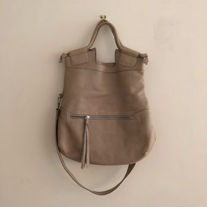Foley + Corinna Large Taupe Leather Mid City Tote